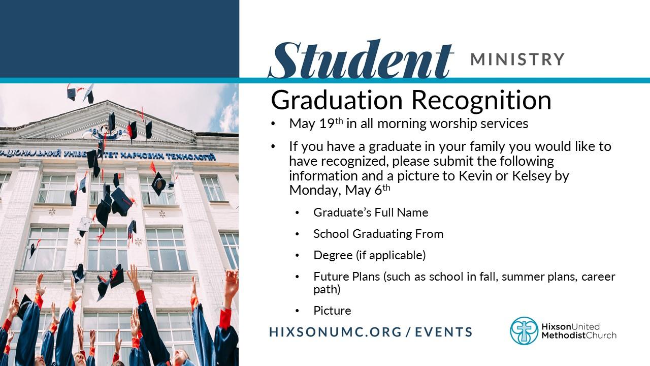 Grad Recognition slide
