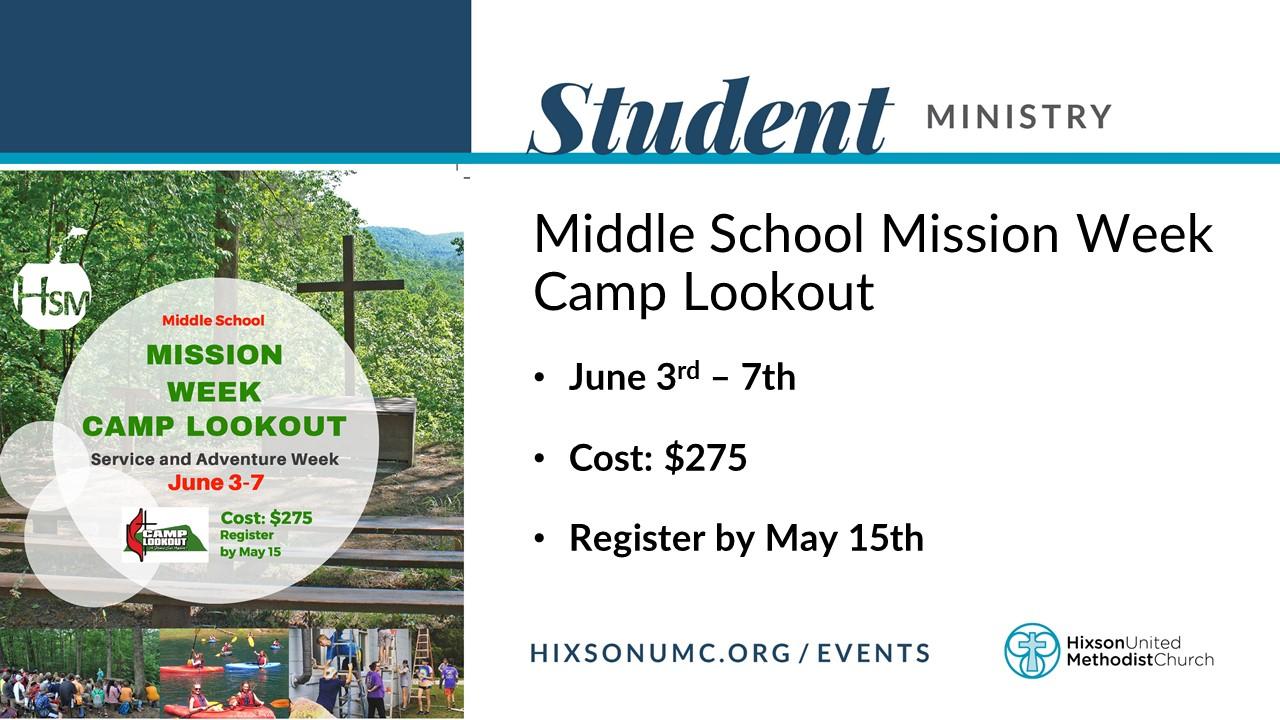 WS - MS Mission Week